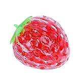 Lseqow Squeeze Stress Ball Juguete Que Cambia de Color, Juguete sensorial con Forma de Fresa, Bola para Exprimir Frutas, Juguete de descompresión, Pelota de Juego para niños Adultos
