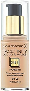 Max Factor Facefinity All Day Flawless, Liquid Foundation, 3In1, 030 Porcelain, 30 Ml