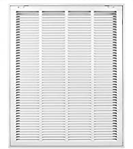 Accord ABRFWH2025 Return Filter Grille with 1/2-Inch Fin Louvered, 20-Inch x 25-Inch(Duct Opening Measurements), White