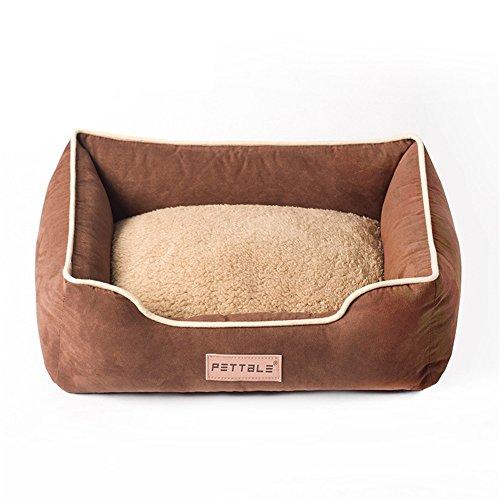Uiophjkl Veilig en comfortabel Pet Nest Suede Dual Use Pad Kleine hond Teddy Optioneel hondenbed kattenstrooi geschikt voor honden en katten