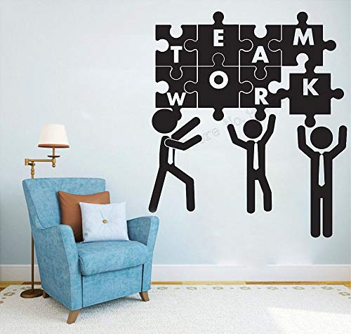 Kunst Wandaufkleber Kreatives Puzzle Teamwork Unternehmen Kultur Büro Studio Schlafzimmer Wohnkultur Vinyl Aufkleber Abnehmbares Wandplakat