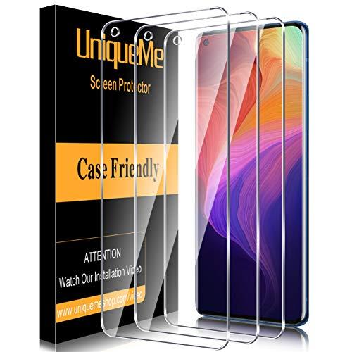 [3 PACK]UniqueMe Protector de pantalla para OnePlus 9 Cristal Templado, [Sin burbujas]...