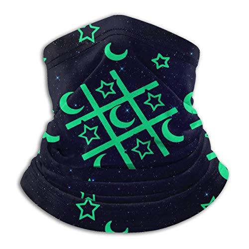 XXWKer Microfibre Chapeaux Tube Masque Visage Tour de Cou Cagoule, Glow in The Dark Tic Tac Toe Men & Women Cold Weather Ultimate Thermal Retention Face