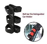 DD Roll Bar Fire Extinguisher Storage Holder, Car fire extinguisher Storage strap for Jeep Wrangler(Black)