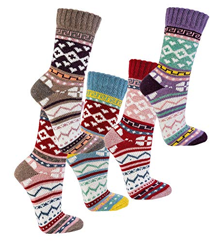 TippTexx 24 6 Paar Hygge Socken mit ANTI-LOCH-GARANTIE (35/38)