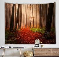 家の装飾美しい木の森のタペストリー壁掛け自由奔放に生きるタペストリー寝室のリビングルーム150X200CM