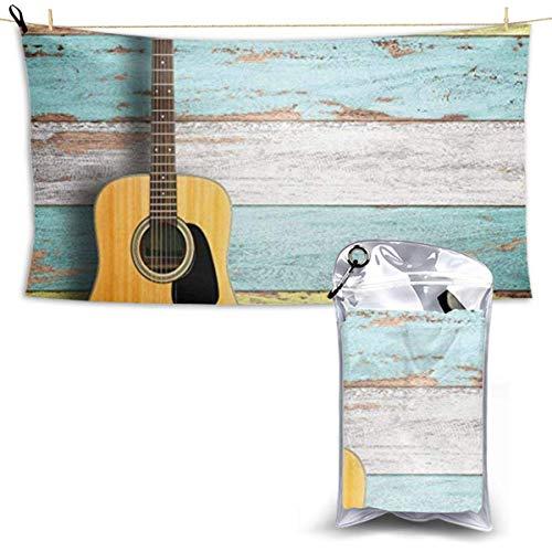Tedtte Mikrofaser Strandtuch Schöne Gitarre Reisetuch Für Camping, Schwimmen, Rucksackreisen, Yoga, Fitness, Sport 160X80 cm