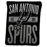 Northwest NBA San Antonio Spurs Micro Raschel Throw, One Size, Multicolor