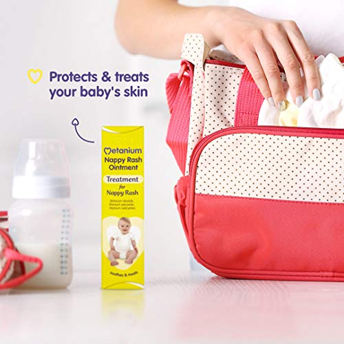 Metanium Nappy Rash Ointment - Treatment of Nappy Rash - Helps Relieve Irritation & Redness - Gentle On Newborn Skin - 30g
