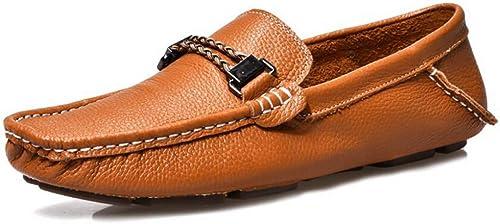 Hhor Nouvelles Chaussures pour Hommes, Chaussures Chaussures Chaussures en Cuir été, Chaussures de Conduite Mode pour Hommes, Mocassins et Collants, Chaussures paresseuses, Chaussures de Tourisme ea8