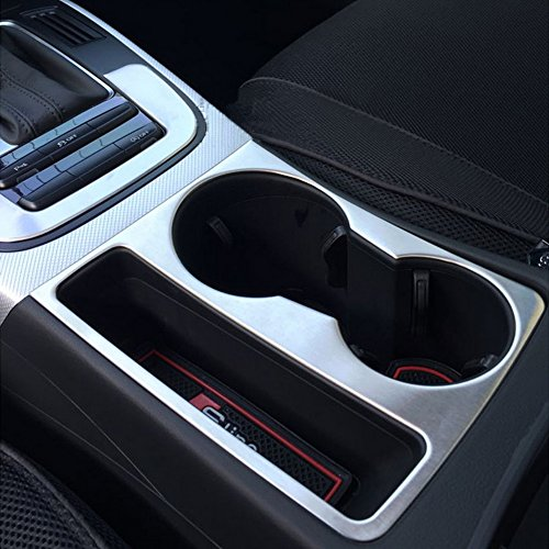 etopmia Car Styling Sticker Cup Holder Decorative Frame Cover Trim fit for Audi A4 B8 09-15 A5