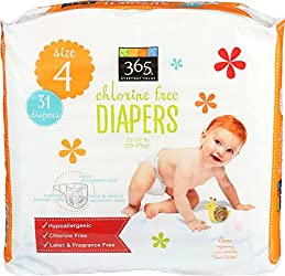 365 Everyday Value, Diapers Size 4, 31 ct