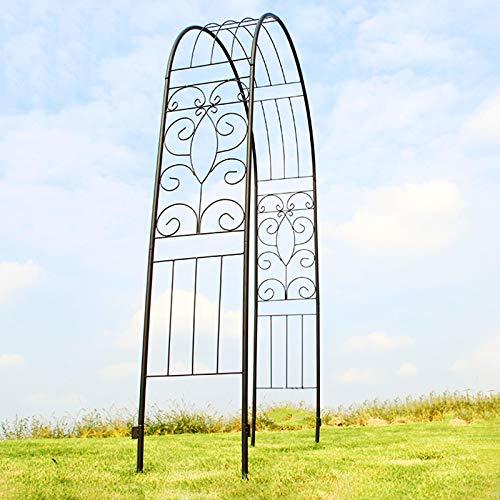 Better Garden Arco de Jardín de Hierro/Arco de Metal, Pabellones de Jardín para Varias Plantas Trepadoras, Jardín de Césped, 6.39 Pies de Alto X 1.24 Pies de Ancho X 4.26 Pies de Largo