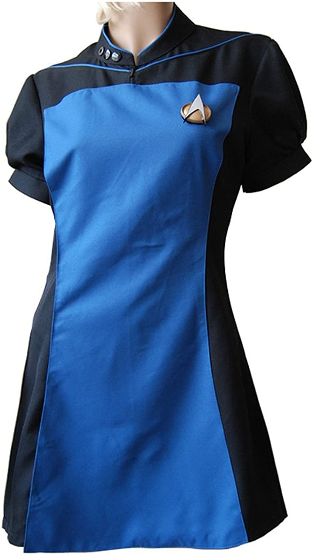 MingoTor Star Trek TNG The Next Generation Teal Skant Uniform Cosplay Kostüm Maanfertigung