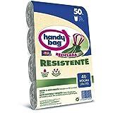 Handy Bag Basura 50L, 90% Reciclado, Extra Resistentes, 40 Bolsas, 50 litros,...