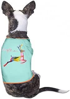 Pet T-Shirt Christmas Pet Clothes Dog T-Shirts Clothes Merry Christmas Pet Dog Summer Vest Fashion T-Shirt Breathable Sleeveless Summer - (Sky Blue, Gray, Yellow, Black)