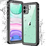Temdan New Designed iPhone 11 Case Waterproof,Clear Sound Quality Built in Screen Protector Full Body Heavy Duty Shockproof IP68 Waterproof Case for iPhone 11 6.1 inch