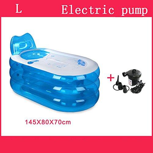Piscine pour enfants bain gonflable épaissir adulte baignoire pliable enfant baigner baignoire plastique baignoire cadeau Four Seasons général bleu Accueil ( Couleur : #4 )