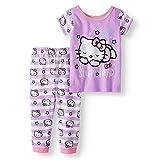 Hello Kitty Baby Girl Cotton Tight Fit Pajamas, 2 pc Set (24 mos)