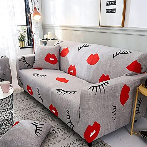 WXQY Funda de sofá Estampada Bonita, Funda de sofá elástica Suave Antideslizante Funda de sofá elástica de Gato de Dibujos Animados Amarillo Funda de sofá A9 1 Plaza