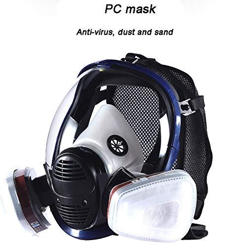 SHENXX ademmasker, gasmasker, chemisch aerosol, stofdicht, groot, van silicone, formaldehyde, brandbescherming