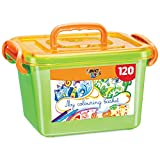 BIC Kids Colouring Set - Large Box with 120 Colouring Pencils and Felt Pens for Kids in Assorted, Vibrant Colours - Includes Storage Box
