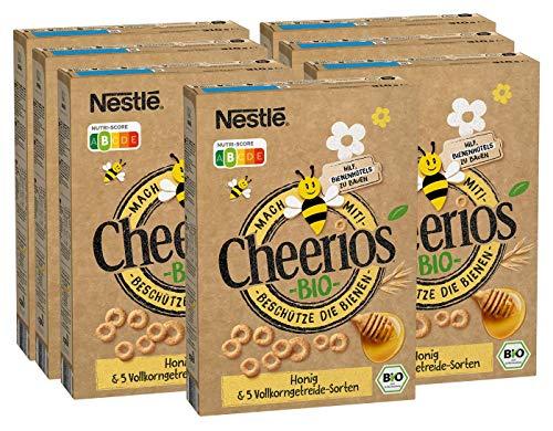 Nestlé Cheerios Bio Honig Frühstücks-Cerealien aus 5 Vollkorngetreide-Sorten, 7er Pack (7 x 310g)