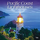 Pacific Coast Lighthouses 2021 12 x 12 Inch Monthly Square Wall Calendar, USA United States of America West Coast Scenic Nature