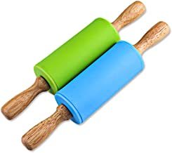 Set of 12 7 inches School Smart Wood Rolling Pins