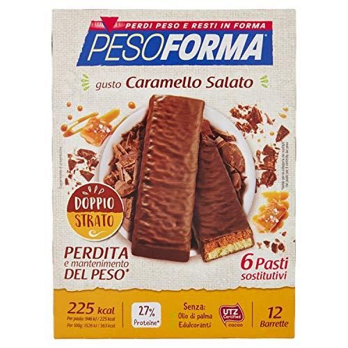 Pesoforma Barrette, Caramello Salato - 12 barrette da 31 g, Totale: 372 g
