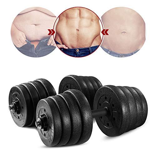 Einstellbare Hantelgewichte - Einstellbare Hanteln Gewichte Set mit Langhantelstange Link Zubehör Lifting Hanteln für Body Workout Home Gym, 20 kg