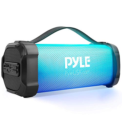 """Wireless Portable Bluetooth Boombox Speaker - 300 Watt Rechargeable Boom Box Speaker Portable Music Barrel Loud Stereo System with AUX Input, MP3/USB Port, Fm Radio, 2.5"""" Tweeter - Pyle PBMSPRG4"""