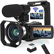 VJIANGER 4K Video Camera Camcorder with Microphone 48MP...