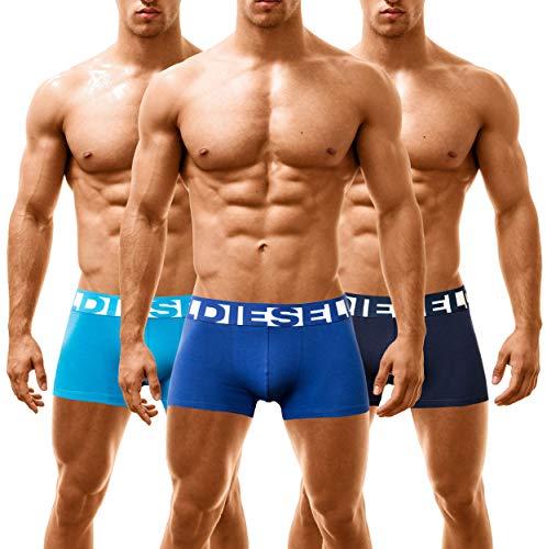 Diesel 3 Pack Shawn Boxershorts Bandana Blue, Large