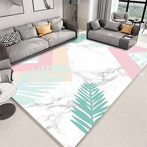 Kunsen Gamer Decoracion cojin Suelo Grande Sala de Estar Alfombra Blanca Dormitorio Moderno rectángulo Decorativo alfombras habitacion Bebe 120X160CM 3ft 11.2' X5ft 3'