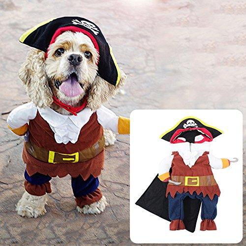 Catkoo, Costume da Pirata per Cani e Gatti, per Feste di Halloween, alla Moda, per Rendere i Vostri Animali Domestici Belli e Belli
