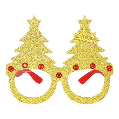 Xniral Brille Rahmen Niedlichen Cartoon Weihnachtsbrille Cartoon Verkleiden Kreative Brille Rahmen(B)