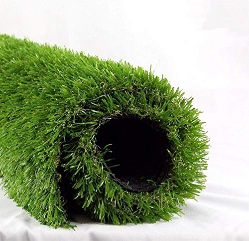 Realistic Deluxe Artificial Grass Synthetic Thick Lawn Turf Carpet (7 FT x 15 FT (105 Square FT))