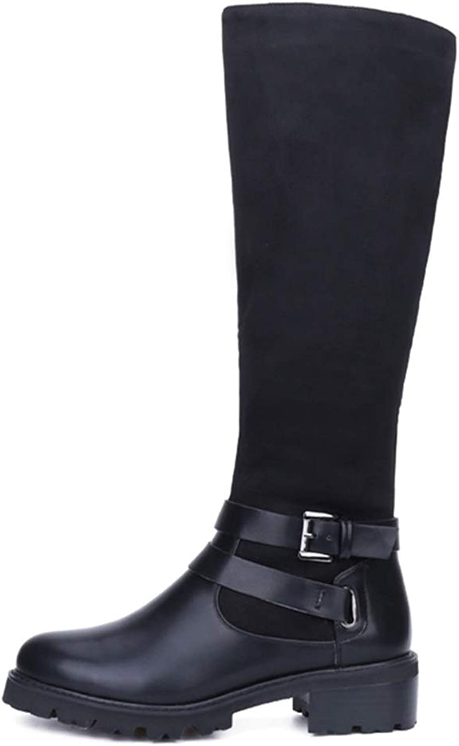 T-JULY Women's Winter shoes Knee High Boots Plus Size Quality Genuine Leather Brand Heels Snow Boots