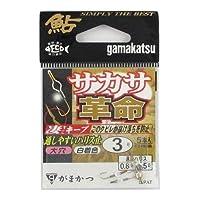 がまかつ(Gamakatsu) シングルフック サカサ革命 ハリス止式 3号 5本 金 67911