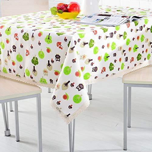 DAKEUR Mantel de Lino de algodón Grueso Mantel Cuadrado para Sala de Estar jardín Rectangular Mantel de té 130 * 170 cm 130