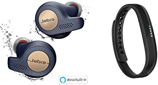 Jabra 完全ワイヤレスイヤホン Elite Active 65t コッパーブルー Alexa対応 BT5.0 マイク付 防塵防水IP56 2台同時接続 2年保証 北欧デザイン 【国内正規品】 & Fitbit Flex2 フィットネストラッカー Black L/Sサイズ [日本正規品] FB403BK-JPN