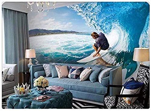 Papel tapiz Surf en el mar Tienda de deportes extremos Mobiliario Adaptado Herramientas personalizadas personalizadas Murales de fondo 3D Papel tapiz no tejido Papel tapiz 3D Decoración-300cm×210cm