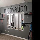 Motivation Wall Sticker - Gym Fitness Wall Decals - Sport Poster Workout Inspirational Art Decor Mural 8 X 50.3 inches