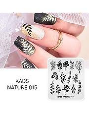 KADS Plantilla de Estampado de Uñas Naturaleza Hoja Plantilla Manicura Herramiento de Decoración de uñas