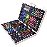 TYJKL Suproducción de artículos de Arte Artista Pastels Pintura Lápiz Sketch Pad 180 Piezas Caja de Madera Caja de Madera Pintura Set para Libros para Colorear Adultos.