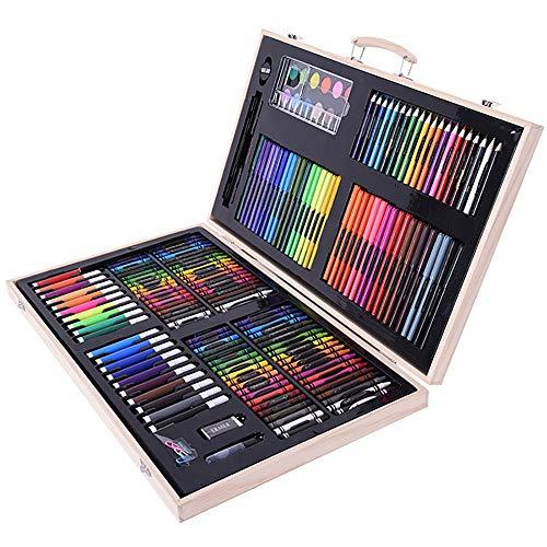 180-Stuk Houten Doos Gemakkelijk Schilderij Set Artiest Pastels Schilderij Potlood Schetsblok
