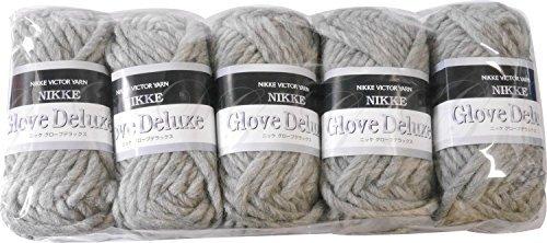 Nikkel handschoenen Deluxe wol ultra dikke grijze serie 50 g 30 m 5 stuks