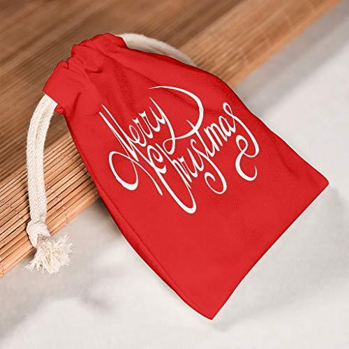 Lind88 Aufbewahrungstasche für Weihnachten, Leinen, atmungsaktiv, für Thanksgiving, Geburtstagsgeschenke, Rot, Baumwolle, weiß, 12 * 18cm