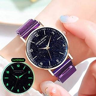 JINN-Women's Watches - Trendy Purple Women's Starry Sky Watch Freely Milan Dress Quartz Wrist Watch Waterproof Women Sport...